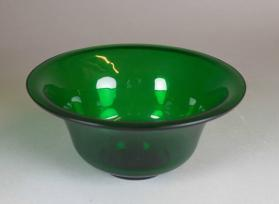 Translucent green glass cup