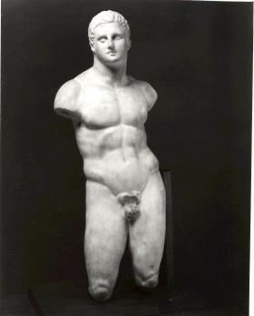 Figure of standing male youth