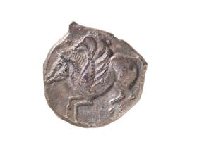 Stater coin with Pegasos flying