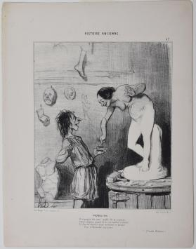 Pygmalion. Plate 47 from Histoire Ancienne
