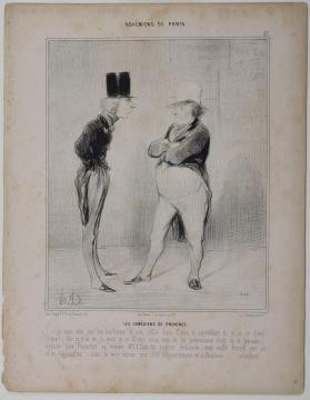 Les Comediens de Province. Plate 27 from Bohemiens de Paris, published in Le Charivari