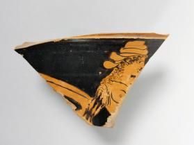 Red-figure calyx krater fragment depicting an Amazon