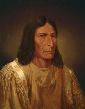 """Big Snake, Blackfoot Chief from the Western Prairies,"" Peigan"