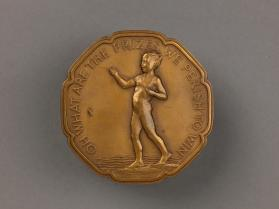 """Boy Fishing"" medal"