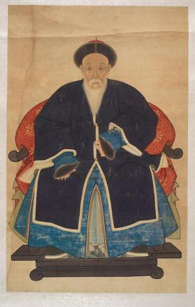 "Hanging scroll of ""Male ancestor portrait"""