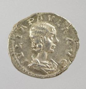 Denarius of Julia Paula, first wife of Elagabalus