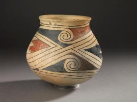 Ramos-Style Polychrome Vessel with Possible Wing Motif