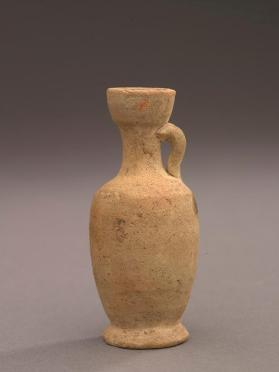 Plain Egyptian-ware ovoid lekythos copying an earlier Athenian Greek shape of about 500-400 BC