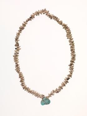 Necklace of Shells with Turquoise Pendant