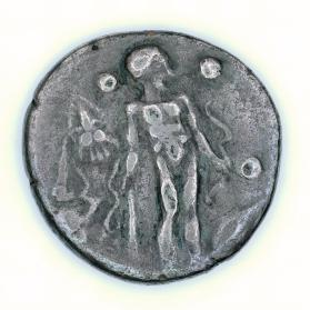 Stater, Hercules standing with club and bow