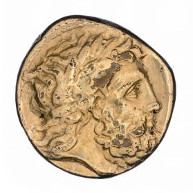 Tetradrachm with laureate head of Zeus