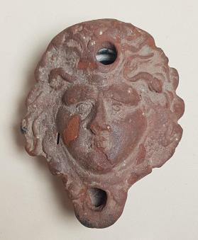 Lamp in the form of a Medusa head