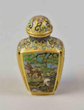 Cloisonné snuff bottlen with stopper
