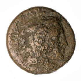Coin with head of Herakles in lionskin