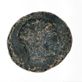 Coin with head of Apollo