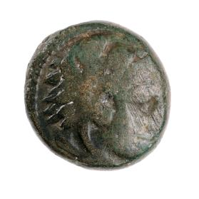 Unit coin with head of Herakles with lion scalp