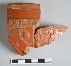 Joined fragments of a Samian ware bowl