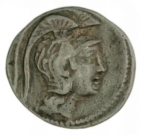 """New style"" tetradrachm with Athena in a triple crested helmet"