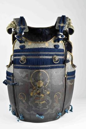 Cuirass from suit of samurai armour