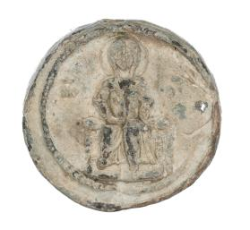 Seal of Manuel Alousianos with depiction of Mary seated on throne