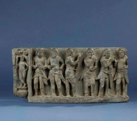 Gandharan relief sculpture of Kushani soldiers