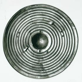 Ribbed shield of Harlech type