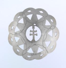 Silver pectoral with cross