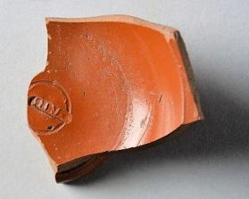 Fragment of a Samian ware cup
