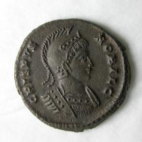 Follis coin of Crispus