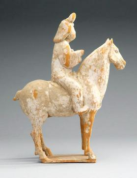 Burial figure of a mounted female attendant