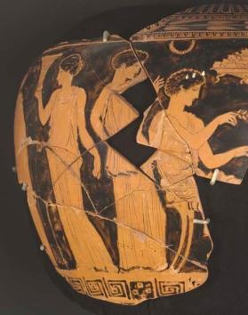 Fragmentary Red Figure Lebes Gamikos (wedding vase)