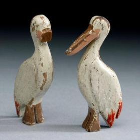 Noah's ark figures: pair of pelicans