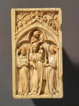 Diptych panel, Virgin and Child flanked by Angels