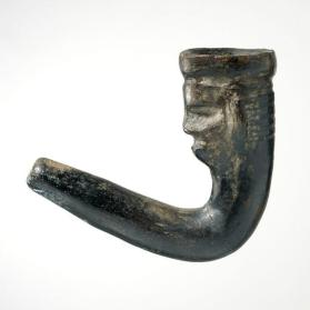 Smoking pipe (with human face)