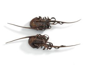 Hilt ornament (menuki) in the form of a lobster