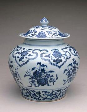 Jingdezhen ware jar and cover