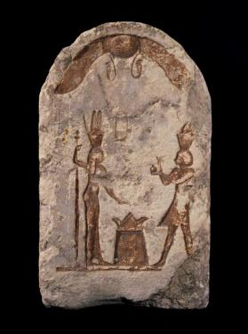 Stela of King Ptolemy II and the deified Queen Arsinoe II