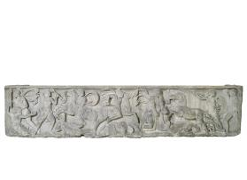 Sarcophagus with relief of Greeks fighting the Amazons