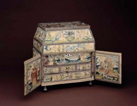 Woman's double casket depicting the story of Isaac and Rebekah