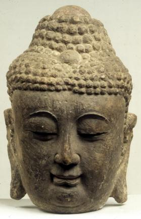 Figure of Buddha fragment (head)