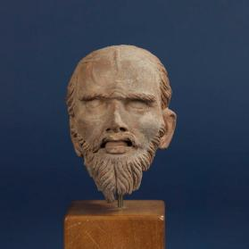 Figural head of an ascetic