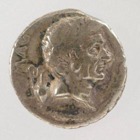 Denarius with bust of Pompey the Great