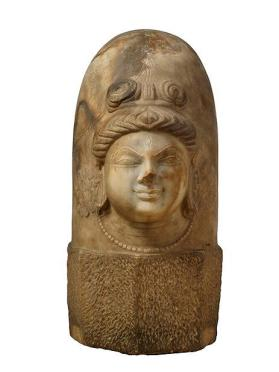 Figure of Shiva Linga with One Face (ekamukhalinga)