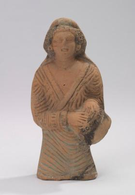 Female figure with drum