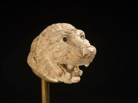 Finial in the form of a lion's head