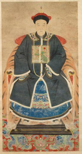 Hanging scroll of a male ancestor portrait
