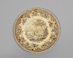 "Dessert plate in ""Montreal"" pattern"