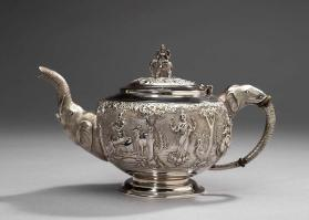Anglo-Indian Silver Teaset