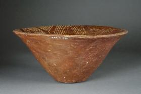 Bowl with painted triangle decoration on interior