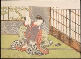 Shunga: Two lovers in interior